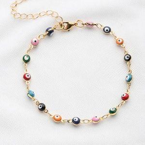 Jewelry - Evil Eye Colorful Beaded Bracelet